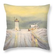 Race Point Lighthouse Provincetown Throw Pillow