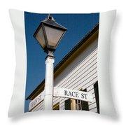 Race St Old Salem Throw Pillow