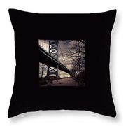 Race Street Pier Throw Pillow by Katie Cupcakes