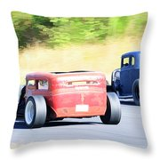 Race Track Relics Throw Pillow