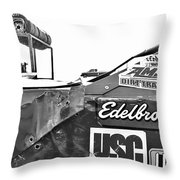 Racecar Junk Throw Pillow