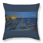 Raceday Sunrise Throw Pillow