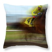 Racetrack Dreams 1 Throw Pillow