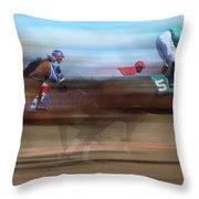 Racetrack Dreams 2 Throw Pillow