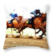 Racetrack Dreams 7 Throw Pillow