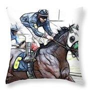 Racetrack Dreams 8 Throw Pillow