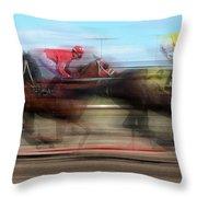 Racetrack Dreams  Throw Pillow