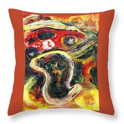 Racetrack Melting Throw Pillow