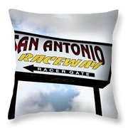 Raceway Throw Pillow
