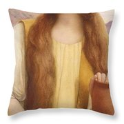 Rachel At The Well Henry Ryland Throw Pillow