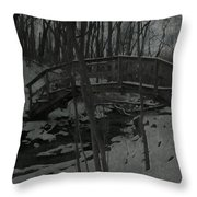 Rachel Carson Trail Bridge Throw Pillow