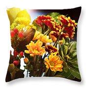 Rachels Flowers Throw Pillow
