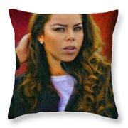 Rachel's Look Throw Pillow