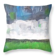 Racing Clouds Throw Pillow