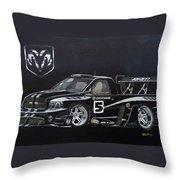 Racing Dodge Pickup Throw Pillow