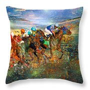 Racing Energy II Throw Pillow