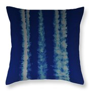 Racing For The Moon Throw Pillow
