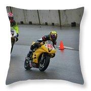 Racing In The Rain Throw Pillow