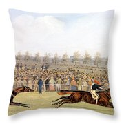 Racing Scene Throw Pillow