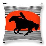 Racing The Wind Throw Pillow