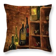 Racked Wine Throw Pillow