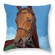 Radamez - Arabian Race Horse Throw Pillow
