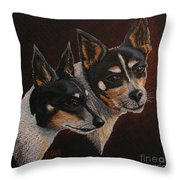 Radar And Ginger Throw Pillow