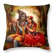 Radha-krishna  Throw Pillow by Lila Shravani