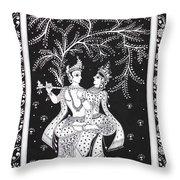 Radha Krishna - The Devine Throw Pillow