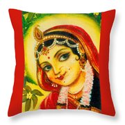 Radha - The Indian Love Goddess Throw Pillow