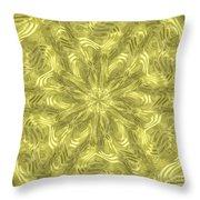Radial Alien Fluid Metal Throw Pillow