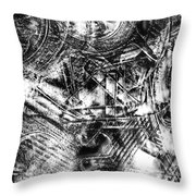 Radiance In Monochrome  Throw Pillow