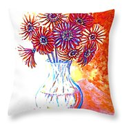 Radiant Array Throw Pillow