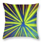 Radiant Flow 3 Throw Pillow