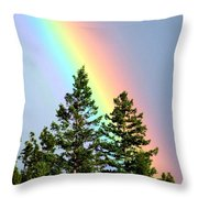 Radiant Rainbow Throw Pillow