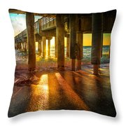 Radiant Rays Throw Pillow