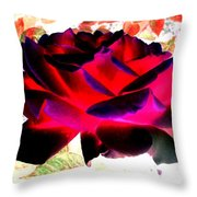 Radiant Red Rose Throw Pillow