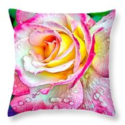 Radiant Rose Of Peace Throw Pillow