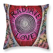Radiate Love And... Throw Pillow