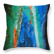 Radiating Colors Throw Pillow