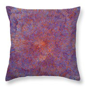 Radiation With Blue And Red  Throw Pillow