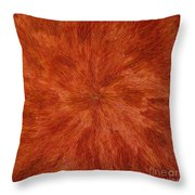 Radiation With Brown Yellow And Voilet Throw Pillow