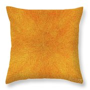 Radiation With Gold  Red And Brown  Throw Pillow