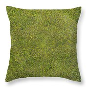 Radiation With Green With Yellow Throw Pillow