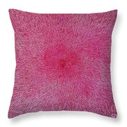Radiation With Pink And Magenta  Throw Pillow