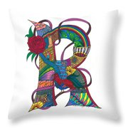 Radical Rooster Throw Pillow