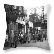 Radio Alley In New York Throw Pillow
