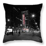 Radio City Colors Throw Pillow