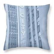 Radio City Cool Toned Throw Pillow