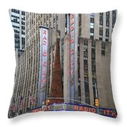 Radio City Music Hall New York City Throw Pillow